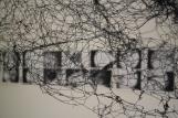 Installatie in een oud kartuizerklooster. Onderzoek naar stof onder de microscoop, en het extreem uitvergroten ervan. Kartuizerklooster, ITHAKA XX, Leuven, BE