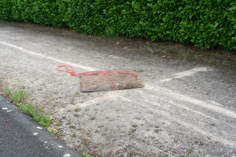 1 m² beton. (afgietsel grasplein)